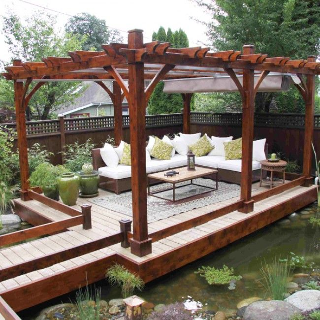 Shop Outdoor Living Today X Cedar Breeze Pergola With Retractable Canopy At  Loweu0027s Canada. Find Our Selection Of Pergolas At The Lowest Price  Guaranteed ...