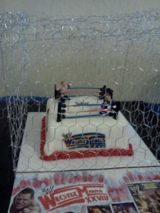 Wrestlemania Cake Complete with Cage!