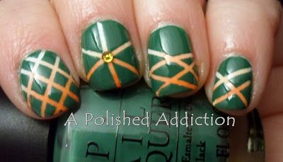 A Polished Addiction: St. Patricks Day Striping Tape