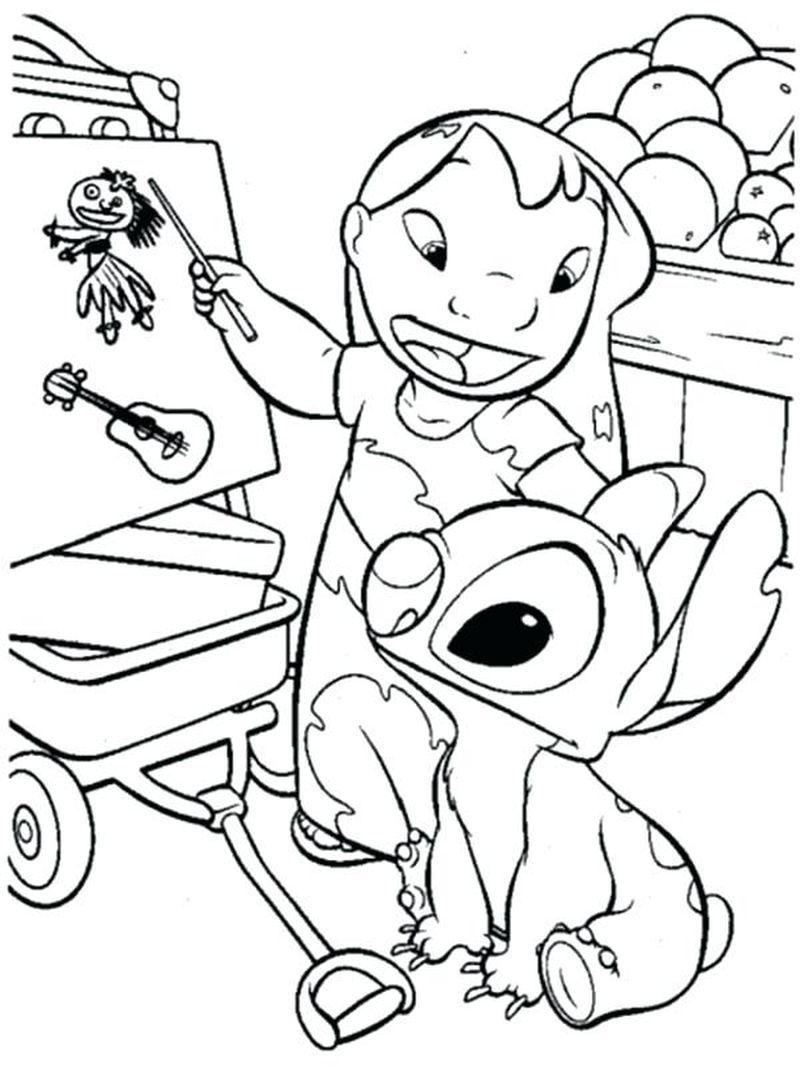 Easy Printable Stitch Coloring Pages