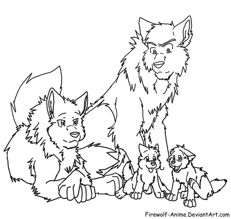 Cute Anime Arctic Wolf Pups Drawings