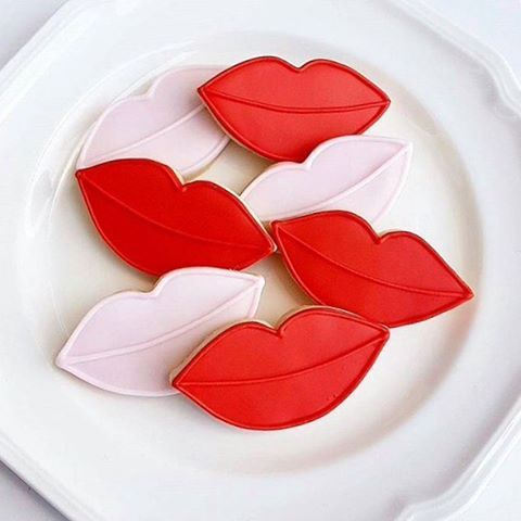 Lips Cookie Cutter Valentine Cookies Valentines Sweets