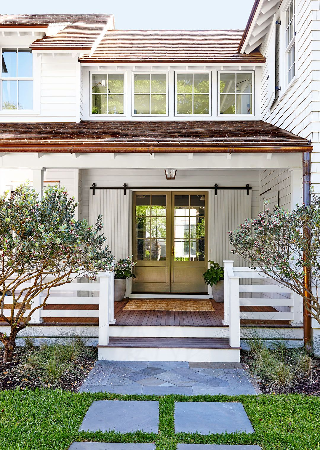 Our Favorite Farmhouse Exteriors That Are Anything But Cookie Cutter Modern Farmhouse Exterior White Farmhouse Exterior Farmhouse Exterior