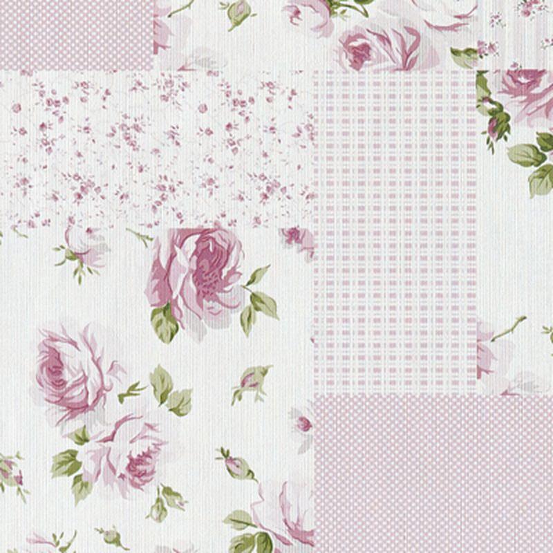 intiss liberty patchwork coloris rose anglais papier peint 4murs astuces deco couleurs. Black Bedroom Furniture Sets. Home Design Ideas