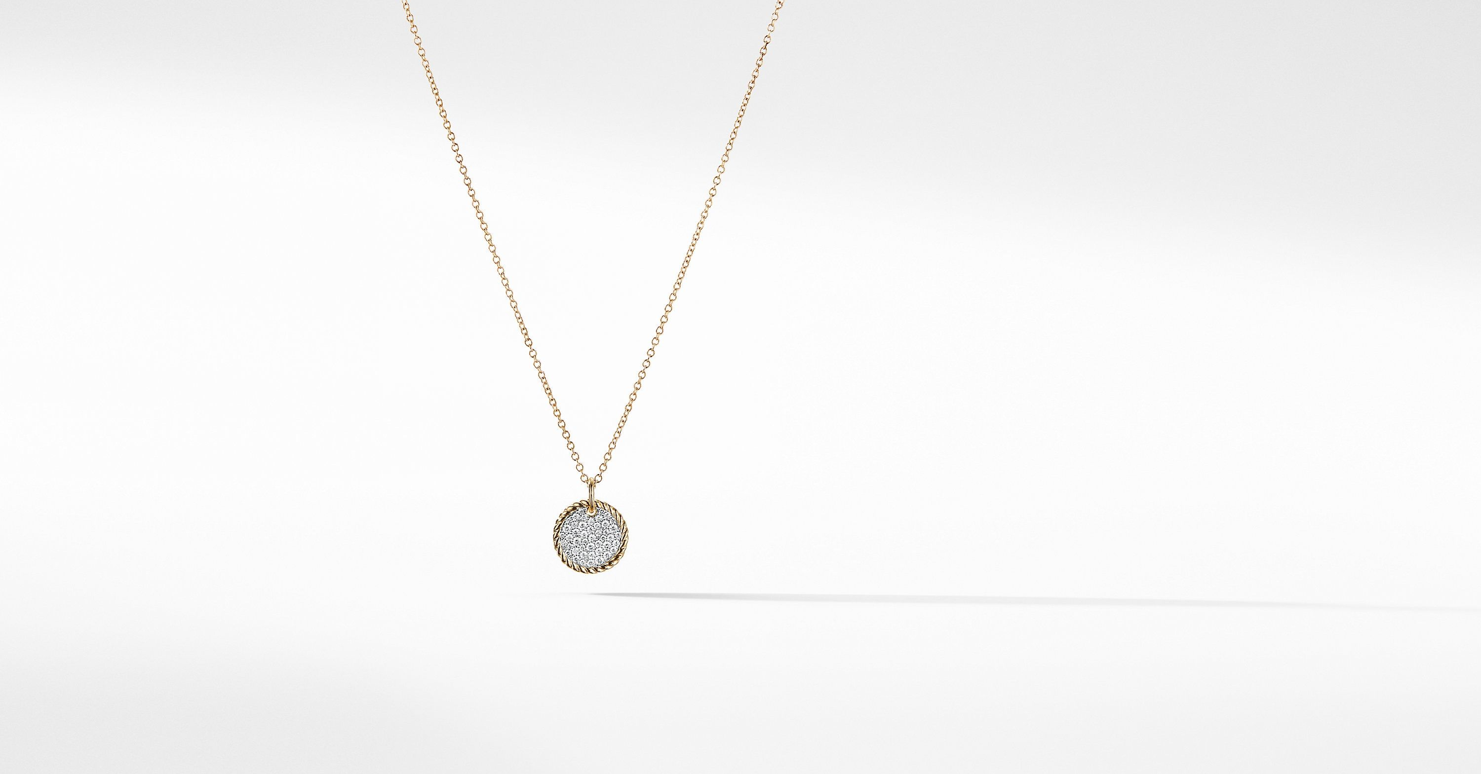 Cable Collectibles Pave Charm Necklace With Diamonds In 18k Gold David Yurman In 2020 Charm Necklace Necklace 18k Gold