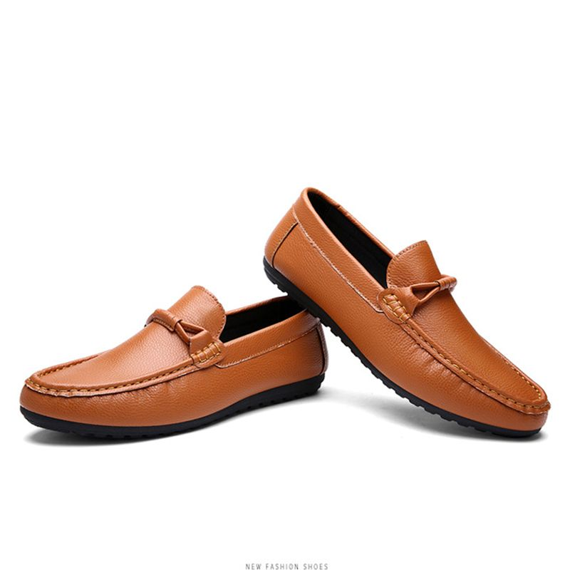 Men's Leisure Soft PU Loafer Shoes Slip Ons Fashion Driving Shoe