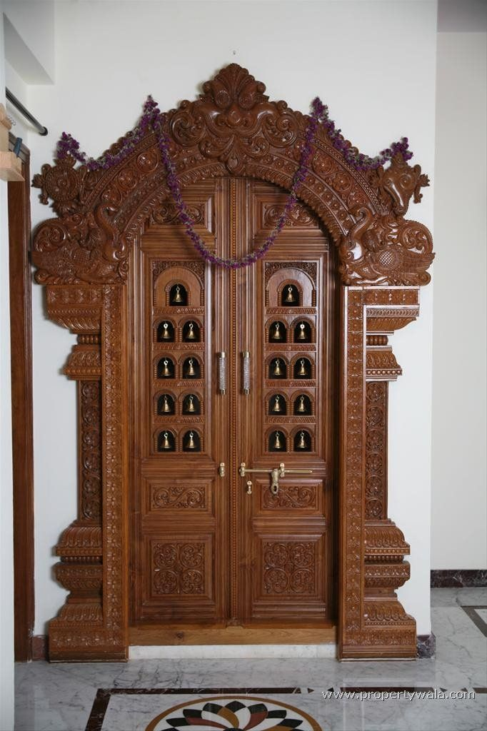 Carved wooden door buy wood craft door product on for Main door designs for indian homes