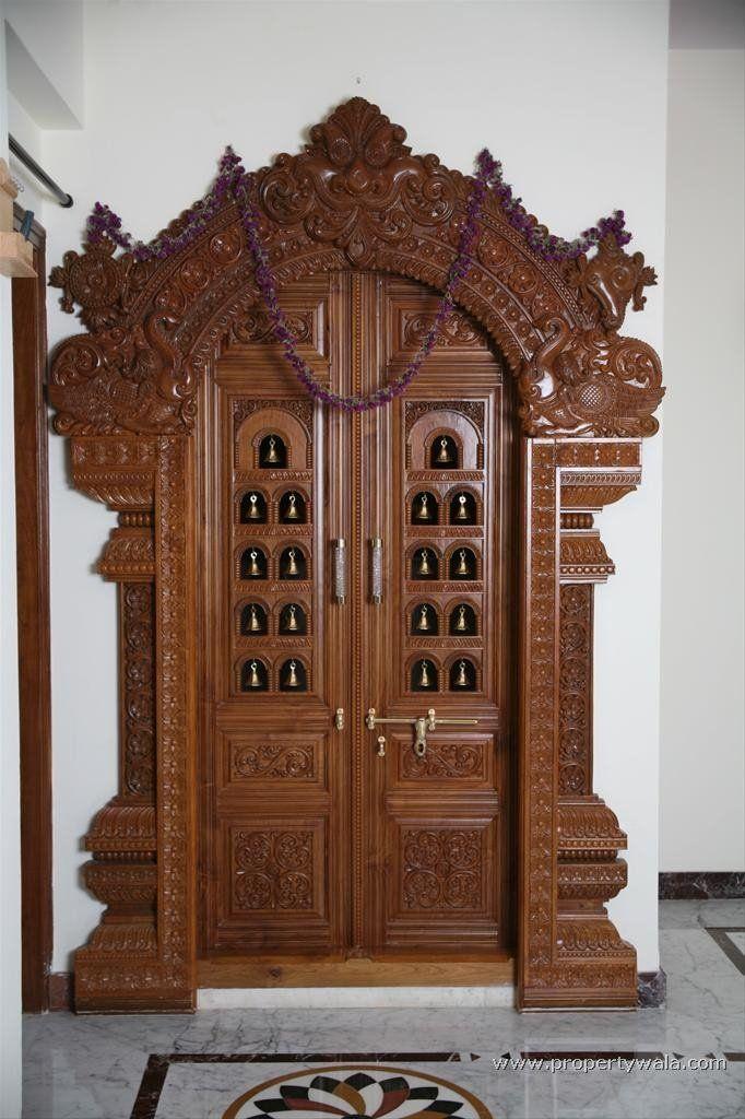 Carved Wooden Door Buy Wood Craft Door Product On Puja Room Room And Doors