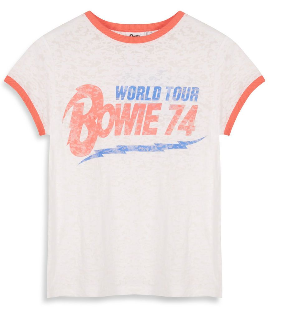 ce8b109fc David Bowie World Tour Bowie 74 1974 Official Ladies Vintage Retro T-Shirt  in Clothes, Shoes & Accessories, Women's Clothing, T-Shirts | eBay