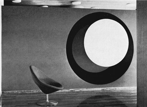 Genevieve Claisse, (1964) Ensemble muraux hall de la S.C.A.C., Putaux