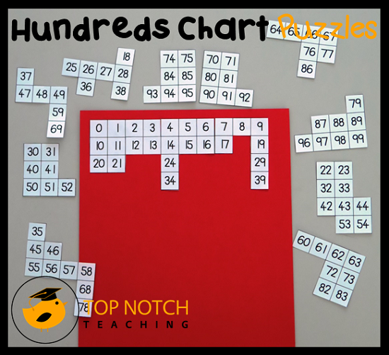 Free Hundreds Chart Puzzles Maths Resources Hundreds