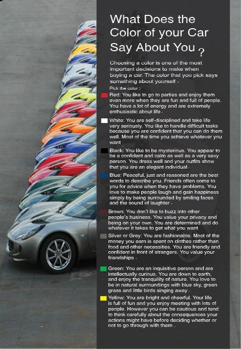 What Paint Colors Mean car color meaningdina tarek, via behance, not sure this fits
