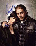 SONS OF ANARCHY (Charlie Hunnam & Maggie Siff) 8x10 Cast Photo Signed In-Person ...#8x10 #anarchy #cast #charlie #hunnam #inperson #maggie #photo #siff #signed #sons