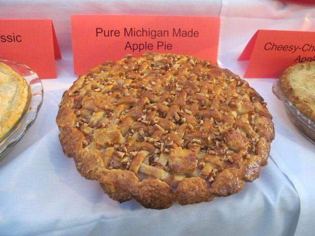 Pure Michigan Made Apple Pie - Recipie contest winner.  Uses vodka in crust.
