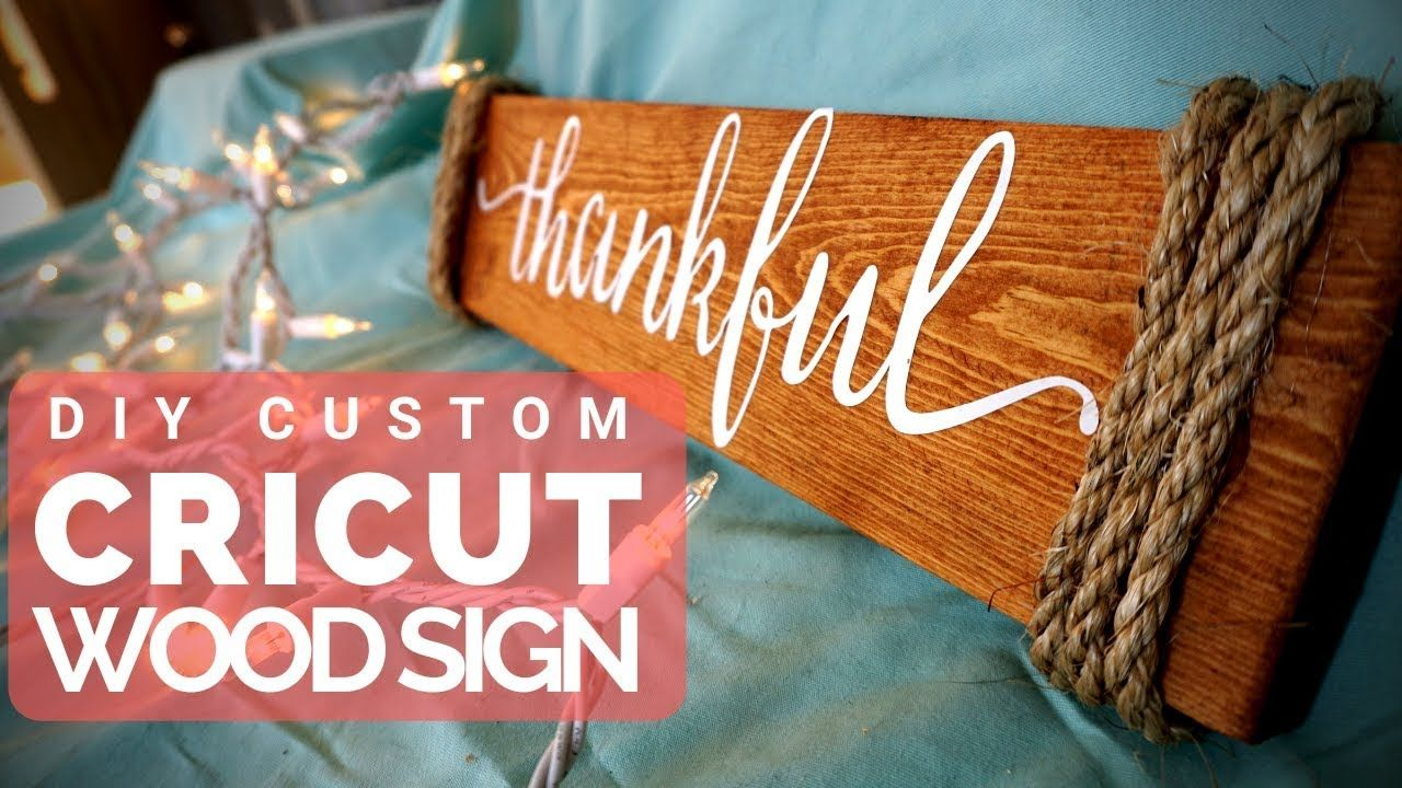 How to Make Wood Signs with a Cricut Craft Tutorial