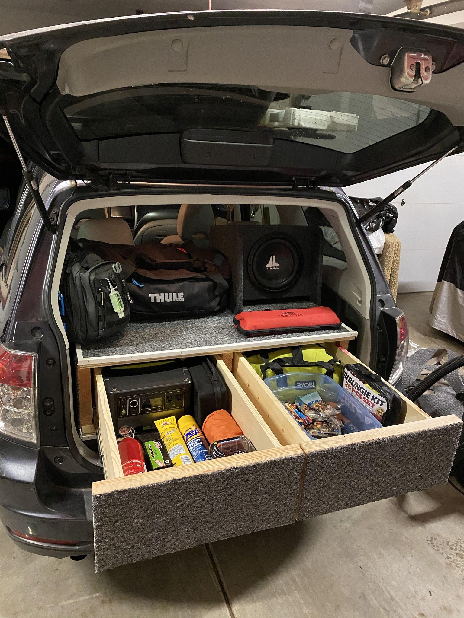 2011 Subaru Forester Drawer System Handmade Crafts Howto Diy Subaru Forester Subaru Outback Accessories Suv Camper