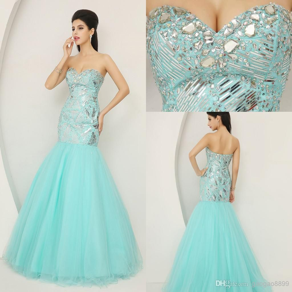 Cheap Crystal Prom Dresses - Discount Actual Images Sweetheart ...
