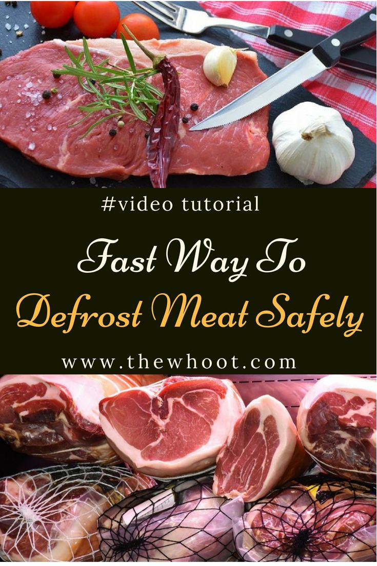 Defrost meat quickly safely properly dinner dishes food