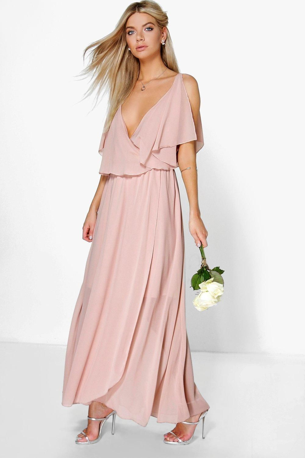 Claudia Chiffon Double Layer Wrap Maxi Dress | Pinterest | Vestiditos
