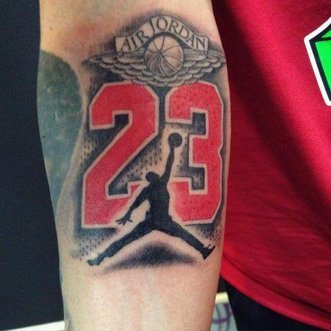 Jordan Style Tattoo23airjordantattooblackandredjordantattoo