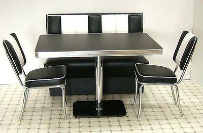 Fabulous Retro Furniture 50S American Diner Kitchen Half Booth Bench Creativecarmelina Interior Chair Design Creativecarmelinacom