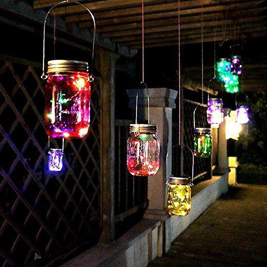 solar mason jar licht led garten solarleuchten wasserfest. Black Bedroom Furniture Sets. Home Design Ideas