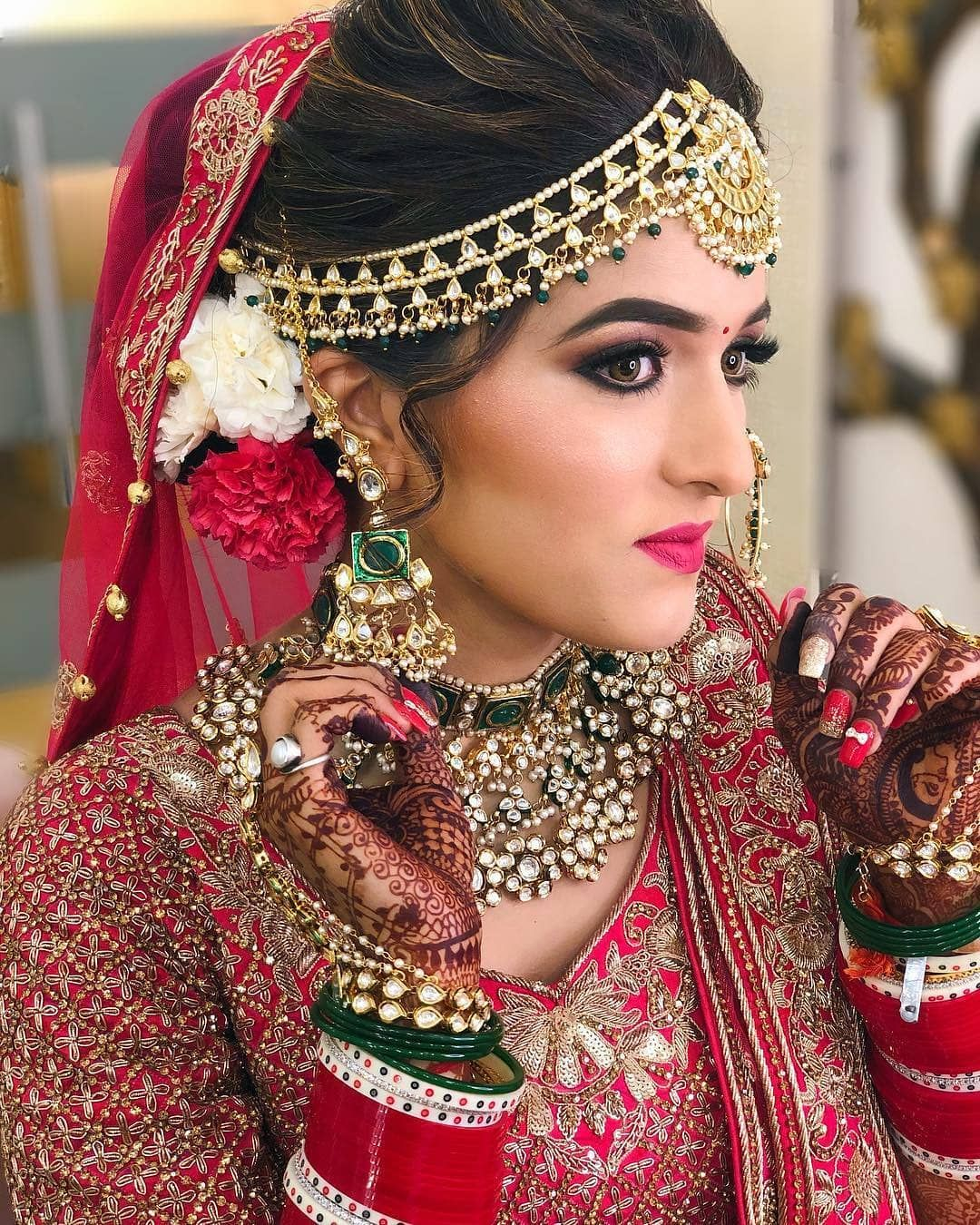 Beautiful Bride Bridal Hairstyle Indian Wedding Indian Bridal Indian Bride Outfits