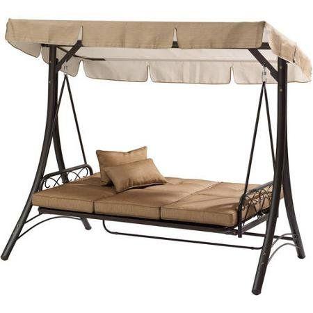 patio swing lawson ridge 3 person swing hammock tan mainstay patio swing lawson ridge 3 person swing hammock tan mainstay      rh   pinterest