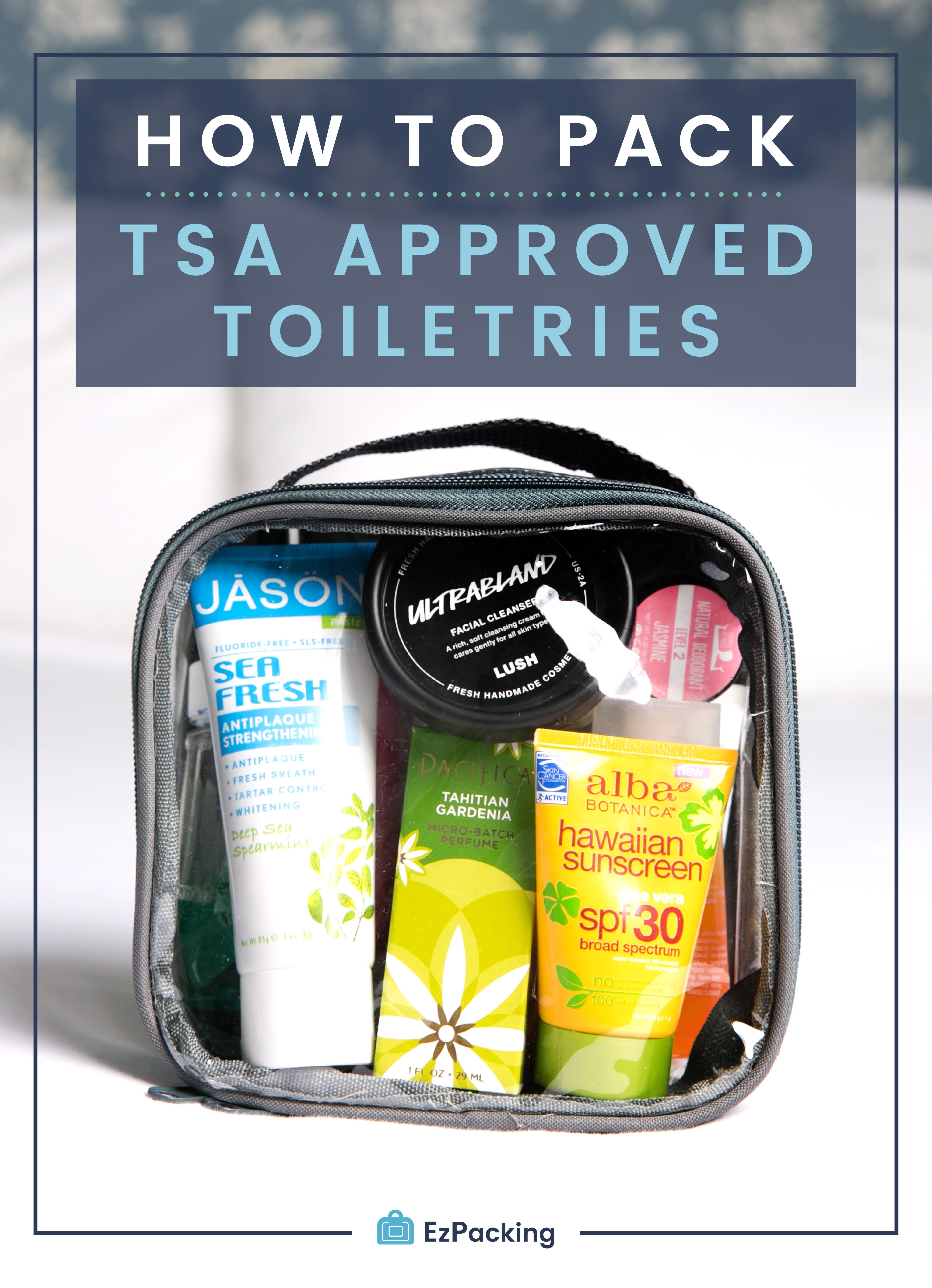 What Items Are Allowed In My Tsa Approved Clear Toiletry Bag In