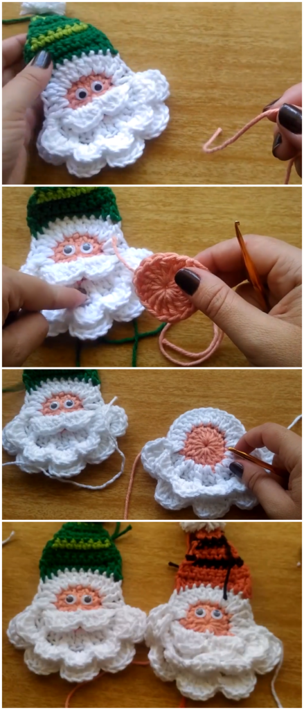 Photo of Crochet Santa Applique – Simple Christmas Project – Crochetaholic