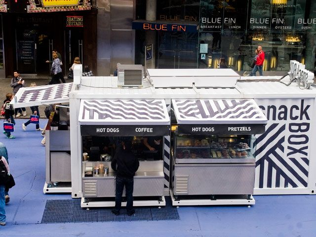 Innovative Transportable Pop Up Restaurant Broadway Street Case Container Camion Di Cibo Chiosco