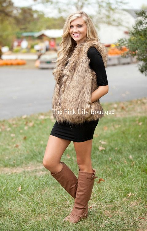 The Great Fur Vest Fashion Cute Outfits Clothes