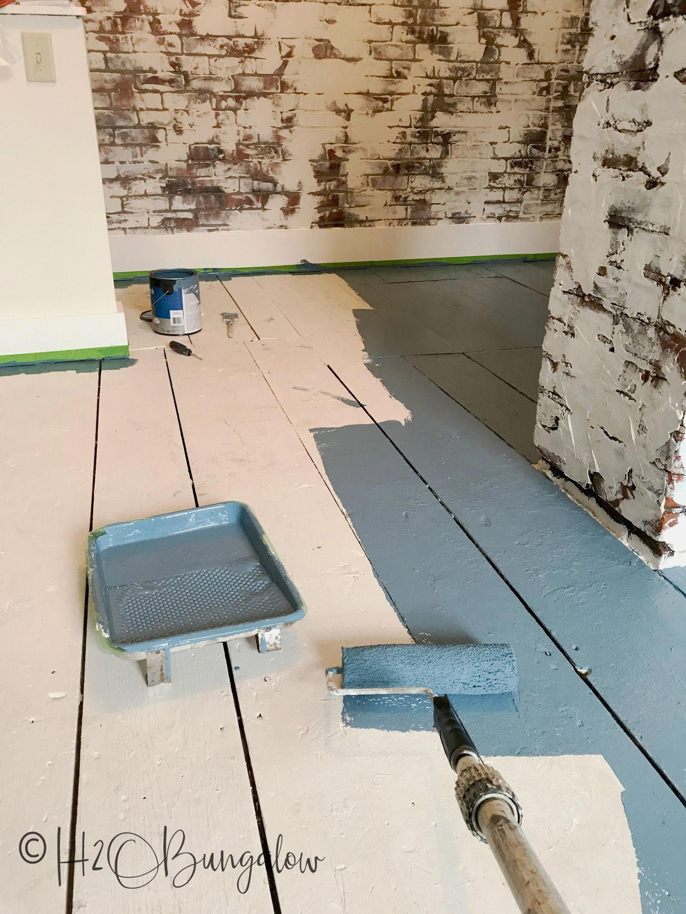 Diy tutorial on how to paint wood floors with detailed instructions