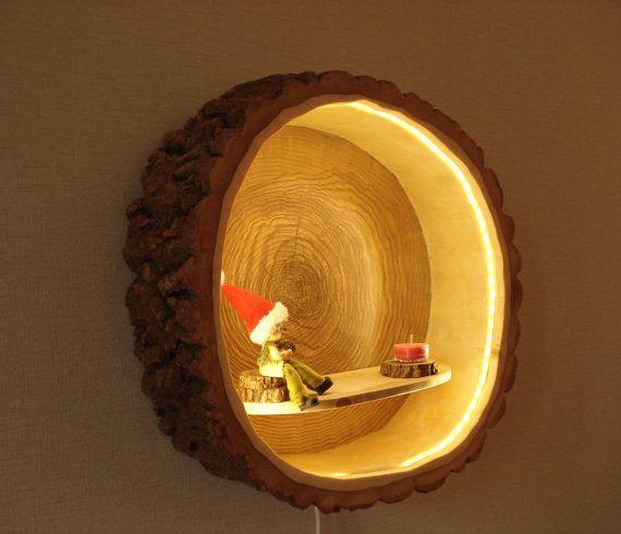 baumstamm lampe simple led lampe einzelstck aus hartholz baumstamm hhe cm with baumstamm lampe. Black Bedroom Furniture Sets. Home Design Ideas
