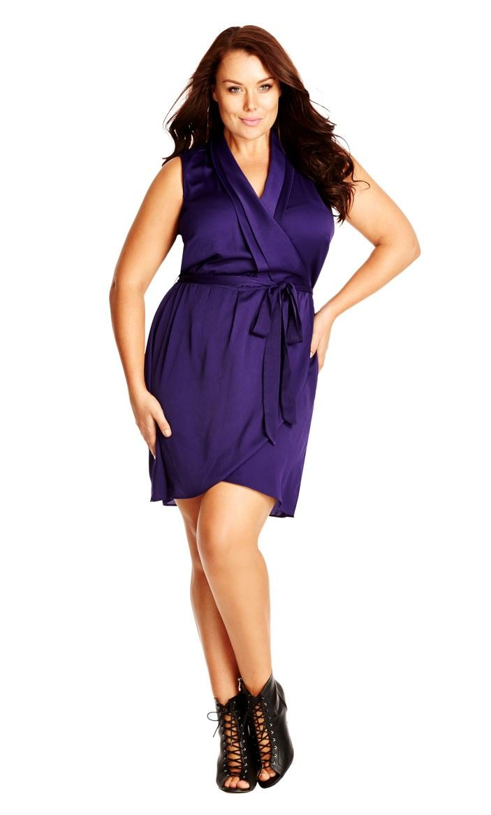 Women's Plus Size Wrap Front Tunic | City Chic USA