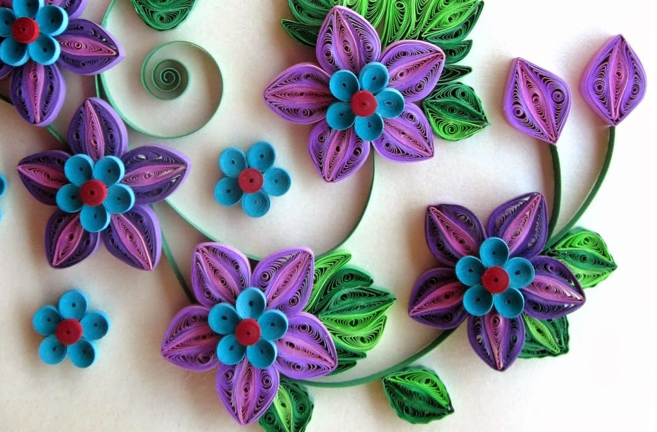 New Art Craft How To Make Beautiful Quilling Bluepink Flower