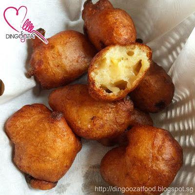 Mashed Banana Fritters Aka Jemput Jemput Pisang Kueh Kodok 炸qq香蕉球 Banana Fritters Fritters Fried Banana Recipes