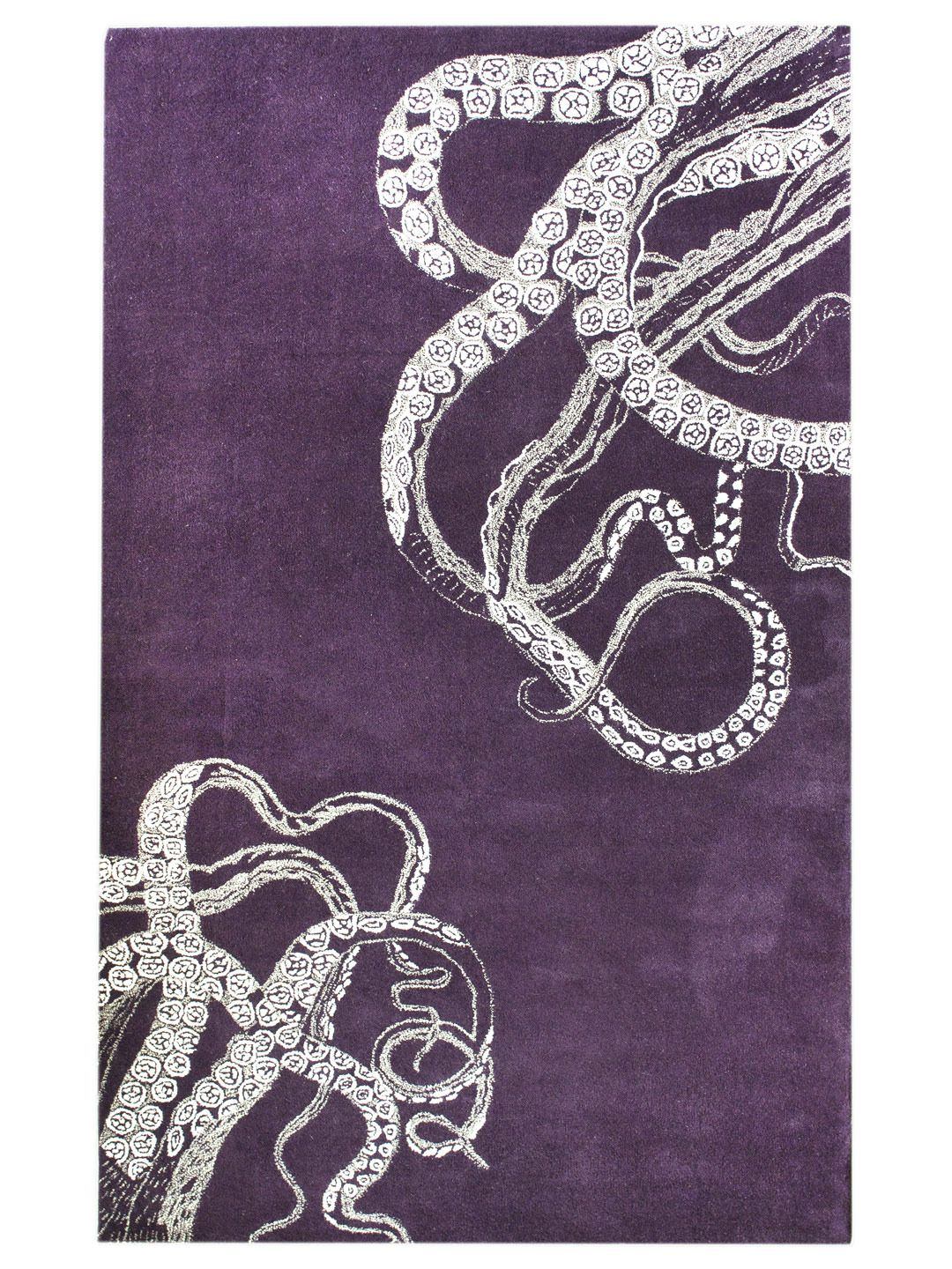 How cool is this Octo Hand-Tufted Rug? For the office maybe?  ...
