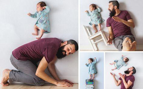 Un Couple De Photographes S Amuse Avec Bébé Sans Photoshop