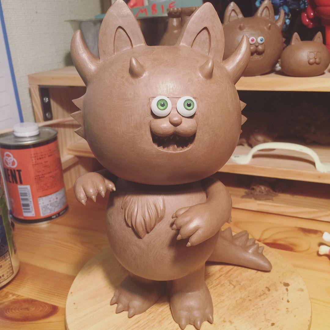"416 Likes, 13 Comments - T9G (@xt9gx) on Instagram: ""finished! ""NEKOTARON""😼 #clay #sculpture #t9g #nekotaron #kaiju #artwork"""