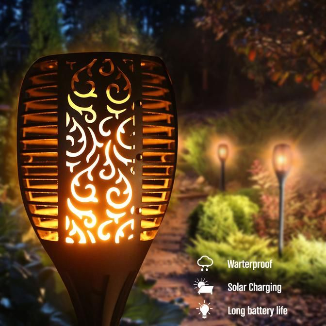Outdoor Led Solar Flickering Flame Torch Light In 2019