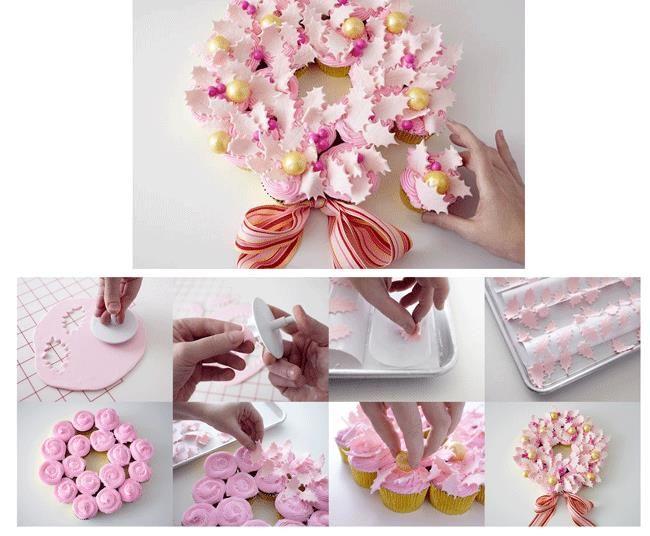 http://thecakegirls.com/projects/cupcake-wreath.html