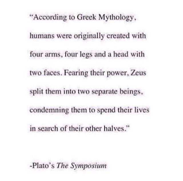 Interesting theory on Soul Mates based on Greek Mythology