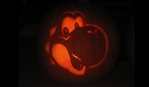 template yoshi pumpkin carving  Yoshi Mario pumpkin jack o lanterns 6 Stupendous Mario Bros ...