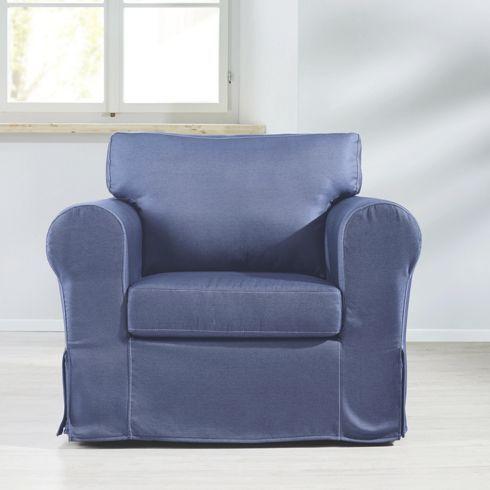 Gemütlicher Sessel in Jeansoptik - für Entspannung im Wohnzimmer - stühle für wohnzimmer