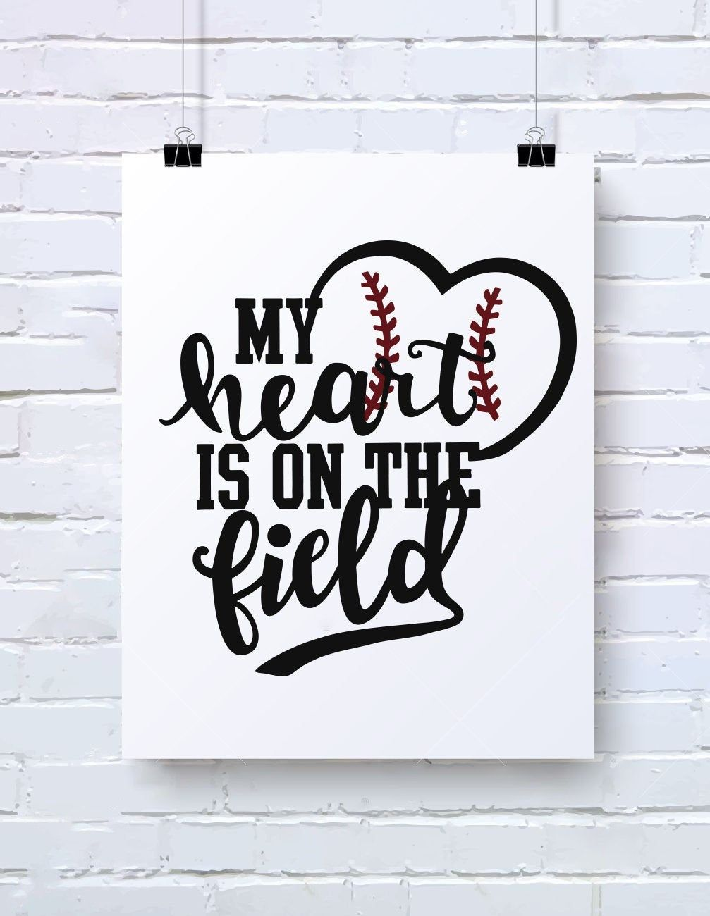 Download My Heart Is On The Field, Baseball svg, svg files for ...