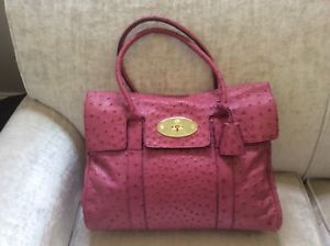 Mulberry Bayswater Foxglove Pink Ostrich Leather   Mulberry Handbags ... bffa2e4b0f