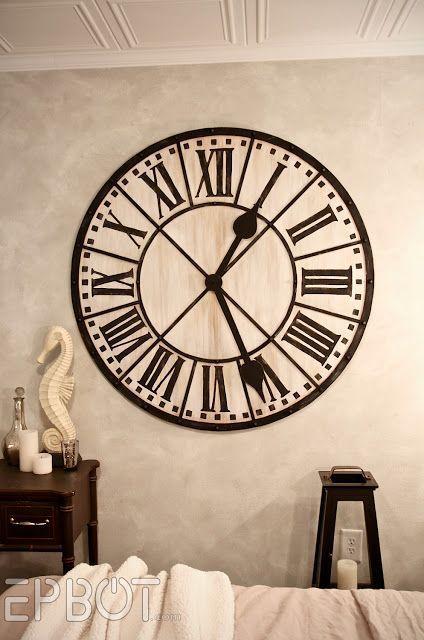 Diy Giant Tower Wall Clock Diy Clock Wall Large Wall Clock Decor Clock Wall Decor
