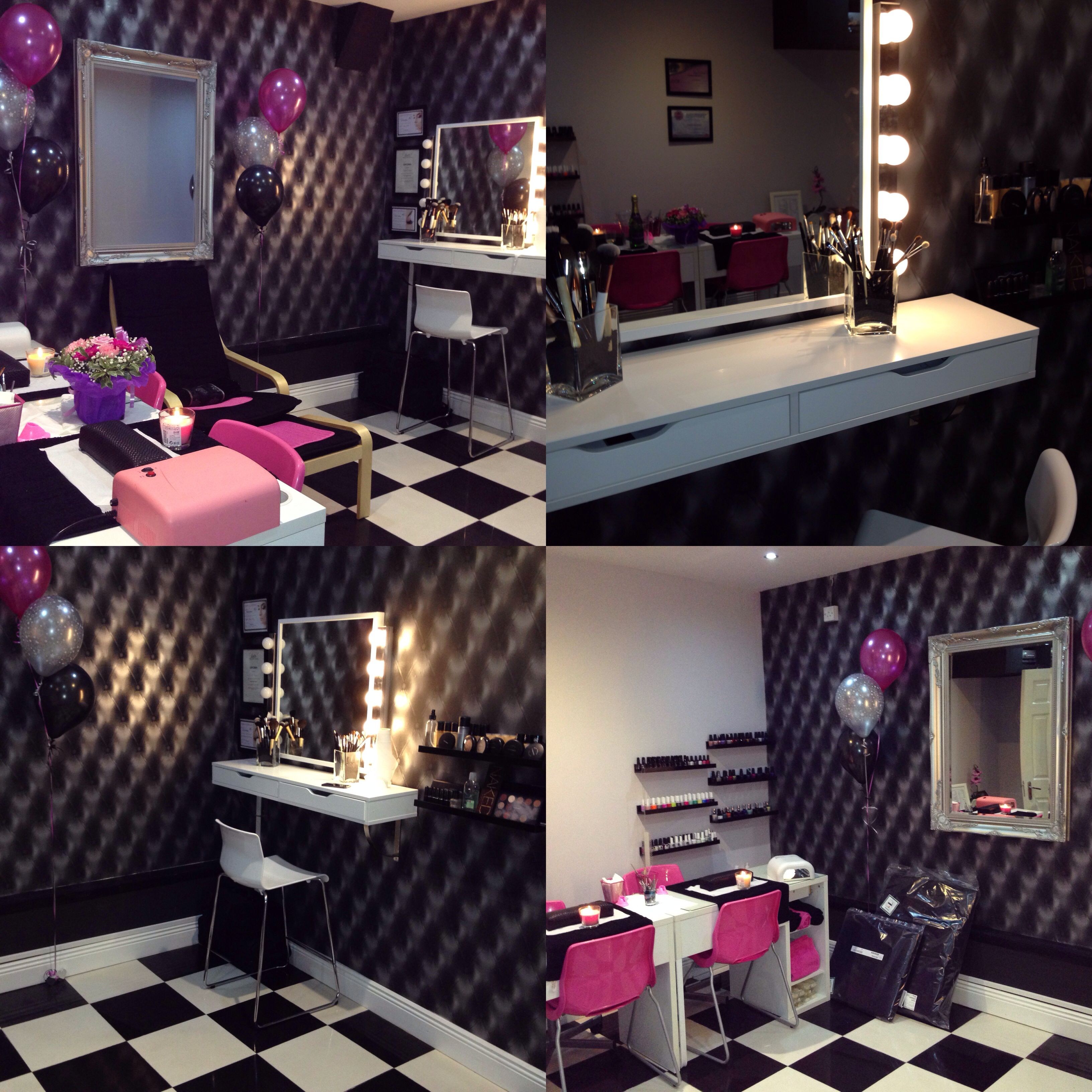 Beauty salon makeup stationvanity mirror with lights My work