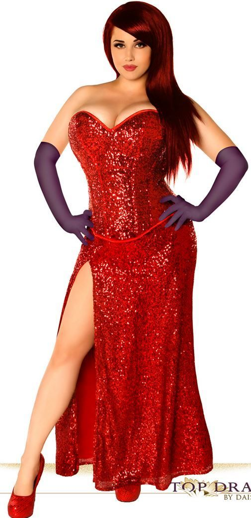 a387ca857f68 Plus size Miss Jessica Costume Who Framed Roger Rabbit. Daisy Corsets Top  Drawer TD-